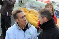 Gilles Lamire, le skipper du Défi Cancale et le Maire de Cancale @A.Cassim
