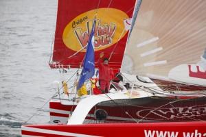 Crêpes Whaou 2 et son skipper Franck-Yves Escoffier @C.Launay