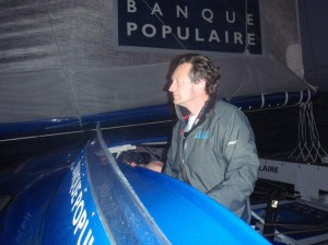 Fred Lepeutrec  Chef de Quart sur Banque Populaire ( photo du bord)
