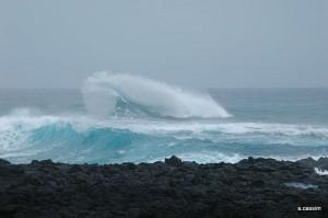 VAGUE DE L OCEAN INDIEN SUR LA COTE S/O DE LA REUNION @A.Cassim