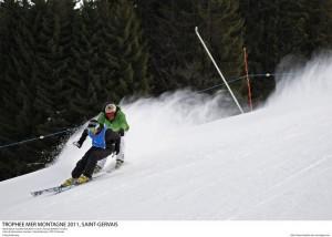 Blind Slalom, Aurelien DUCROZ , Thomas RUYANT Pascal Alemany / ODT St-