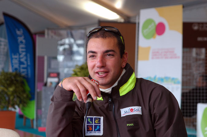 Damien Seguin (au départ de la Solidaire du Chocolat 2009)
