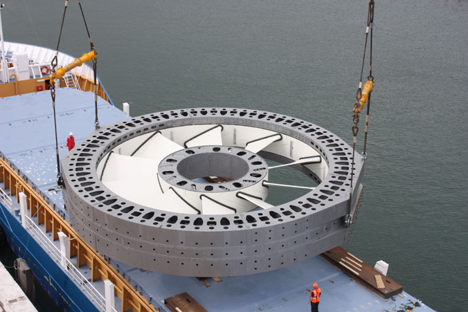 Turbine hydrolienne Paimpol Bréhat @DCNS