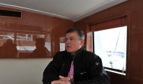 Présentation du trawler par le directeur commercial R.Rousset @A.Cassim