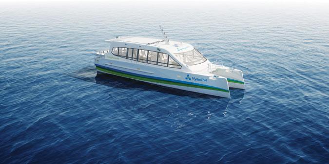Le  catamaran Nyami54
