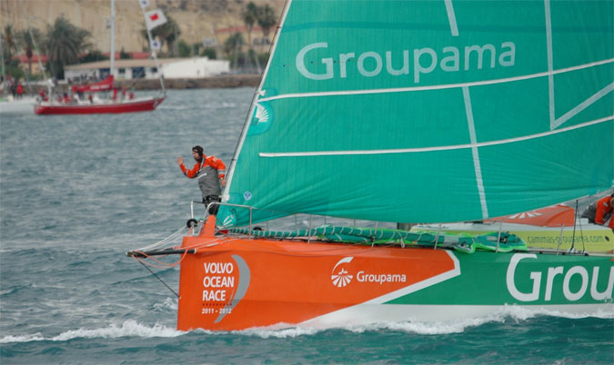 Groupama en approche de la seconde marque - Credit DSPRESS- Filippo Giuffrida
