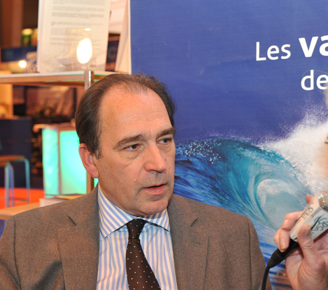 Philippe METZGER, photographié sur le stand de Seableue -@A.Cassim