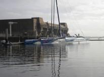 Le maxi trimaran Banque Populaire 5 - base sous-marine de Lorient @ Ronan Audic