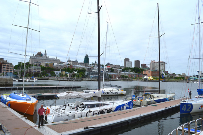 Les bateaux se préparent pour la Transat Quebec -St Malo