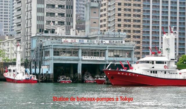 Photo du livre : Bateaux Pompes  -  Rinko fire station à Tokyo