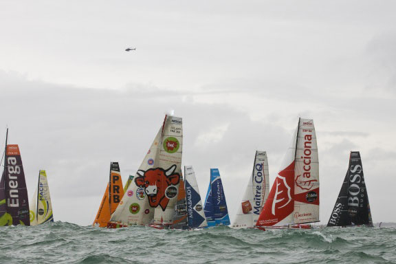 DEPART-VG  Photo V. CURUTCHET / DPPI / VENDEE GLOBE