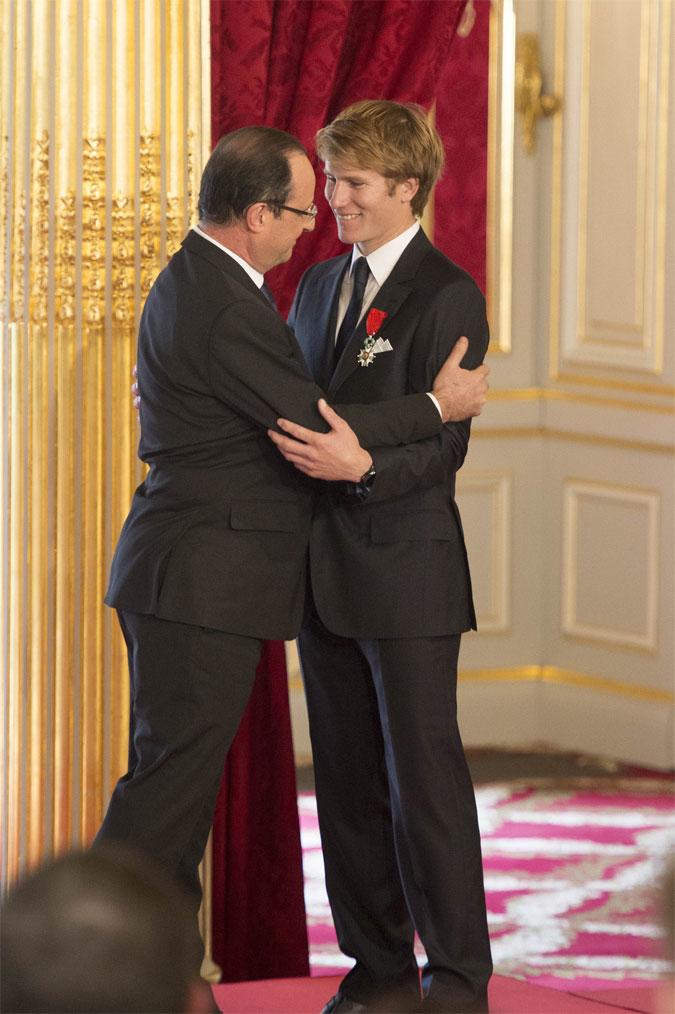 F.Gabart- F.Hollande photo V. Gurutchet DPPI