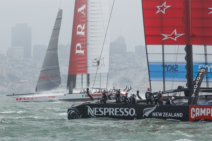 America's-cup Le duel -Photo Gilles Martin-Raget