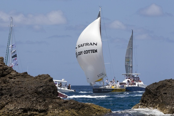Arrivée St Barth Safran Cotten photo Ducourtioux