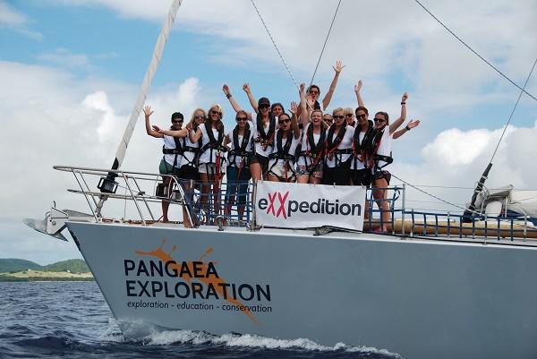 Sea Dragon crew crossing the line