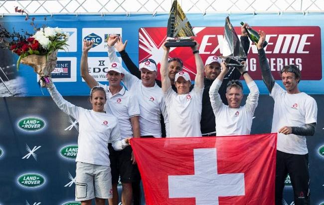 Alinghi a été le vainqueur du circuit Extreme Sailing Series en 2014. Crédits photo : ©Alinghi/Lloydimages