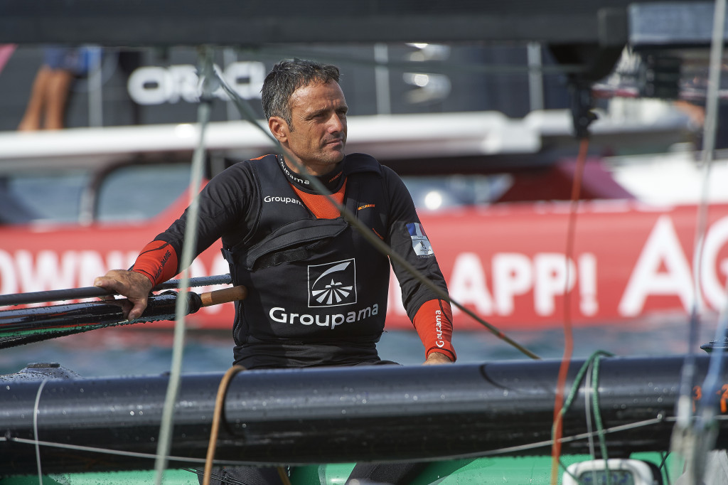 Dimanche18 octobre 2015, Louis Vuitton America's Cup World Series Bermuda, Groupama Team France , skipper Franck Cammas.