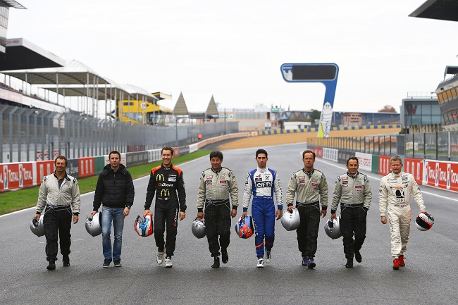 MOTORSPORT : EXPERIENCE LE MANS PASSION SHARE #1 - LE MANS - 12/14-15/2015 GROUP PICTURE