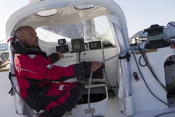 Baie de Quiberon le 15 mai 2014. Erwan le Roux (Fra), skipper du Multi 50 Fentrea-Cardinal, à l'entrainement en vue de la Route du Rhum 2014 Photo © Jean-Marie LIOT/Fenetrea-Cardinal Droits presse