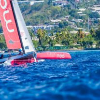 Le premier Grand Prix Pacifique des Jeux dans la rade de Papeete.
