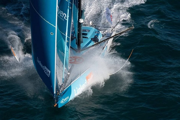 Thomas Ruyant - 3eme position - photo source Ouest France - David Ademas
