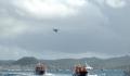 Les bateaux sur l'eau de la Transat AG2R